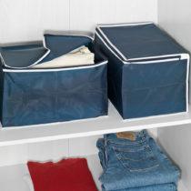Blancheporte 2 úložné boxy, modrá