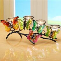 """Blancheporte Svietnik na čajové sviečky """"Motýle"""""""