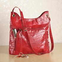 Blancheporte Kabelka s krokodílím vzorom, červená červená
