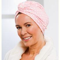 """Blancheporte Uterákový turban z mikrovlákna, """"Bodky"""" ružová růžová s bodkami"""