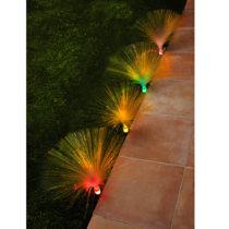 Blancheporte 4 záhradné osvetlenia s optickými vláknami