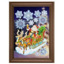 """Blancheporte Obrázok na okno """"Santa na saniach"""""""