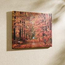 "Blancheporte LED obraz ""Jesenný les"""