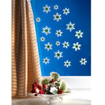 "Blancheporte 18 obrázkov na okno ""Hviezda"", biela-zelená bílá-zelená"