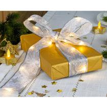 Blancheporte LED ozdobná stuha, zlatá strieborná