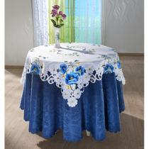 """Blancheporte Stredový obrus """"Modré kvety"""" 85x85cm"""