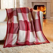 Blancheporte Príjemná deka, bordó-béžová bordó-béžová