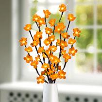 Blancheporte LED svietiaca vetvička, žlté kvety žlté kvety