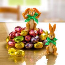 Blancheporte Dekorácia zajačiky + čokoládové vajíčka