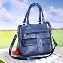 Blancheporte Patchworková kabelka, modrá modrá