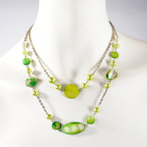 Blancheporte Náhrdelník, smaragdovozelená smaragdovo zelená