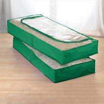 Blancheporte 2 úložné vaky pod posteľ, zelená