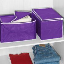 Blancheporte 2-dielna súprava úložných boxov, lila lila