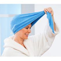 Blancheporte Uterákový turban z mikrovlákna, modrá sivá