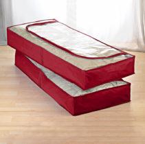Blancheporte 2 ochranné vaky pod posteľ, červená červená