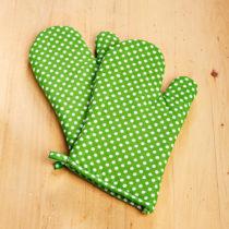 Blancheporte 2 chňapky, zelená-biela zelená-biela