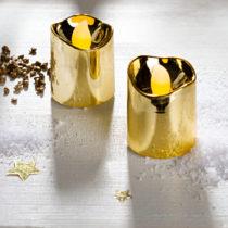 Blancheporte 2 LED sviečky, zlatá zlatá