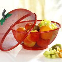 Blancheporte 2-dielny košík na ovocie, červená červená