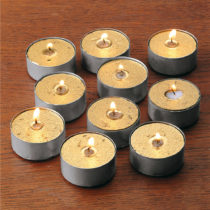 Blancheporte 6 čajových sviečok, zlatá zlatá