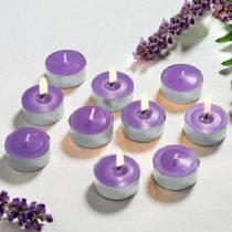 Blancheporte 6 vonných čajových sviečok, lila lila