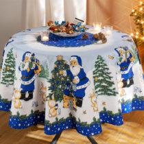 Blancheporte Vianočný obrus, modrá modrá pr. 160cm