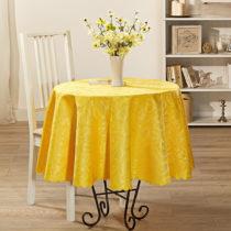 """Blancheporte Obrus """"Jasmin"""", žltá 40 x 140 cm žľtá pr. 160cm"""
