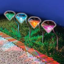 "Blancheporte 4 solárne lampy ""Diamanty"""