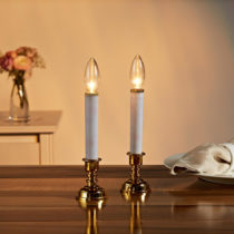 Blancheporte 1 LED sviečka so stojančekom , zlatistá