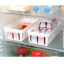 Blancheporte 2 koše do chladničky, biela biela