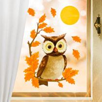 """Blancheporte 6-dielny obraz na okno """"Výr veľký"""""""