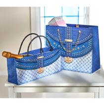 Blancheporte 2 darčekové tašky, modrá modrá