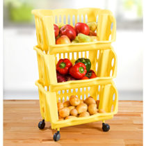 Blancheporte 3-poschodový kuchynský vozík