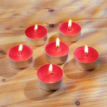 Blancheporte 6 čajových sviečok s vôňou jahôd
