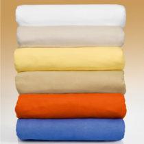 Blancheporte 2 napínacie posteľné plachty, žltá karamelová 100x200cm