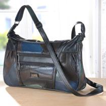 Blancheporte Kožená kabelka, viacfarebná viacfarebná