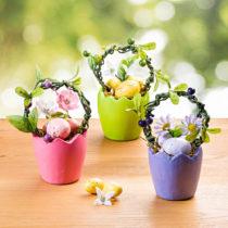 Blancheporte Kvetináč s dekoráciou, zelená lila