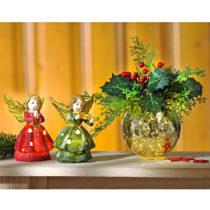 Blancheporte LED guľa s kvetinovým aranžmánom