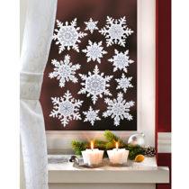 """Blancheporte 11-dielny obrázok na okno """"Snehové vločky"""""""