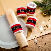 """Blancheporte 4 servírovacie krúžky """"Santa Claus"""""""