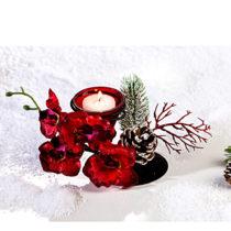 """Blancheporte Svietnik na čajovú sviečku """"Orchidea"""", červená červená"""