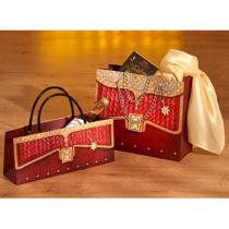 Blancheporte 2 darčekové tašky, zlatá farba bordó