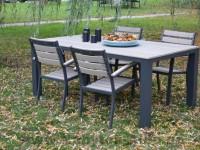 Záhradný nábytok Eco v zostave, plast-hliník, prírodné-grafit, cena: od 112,68 EUR