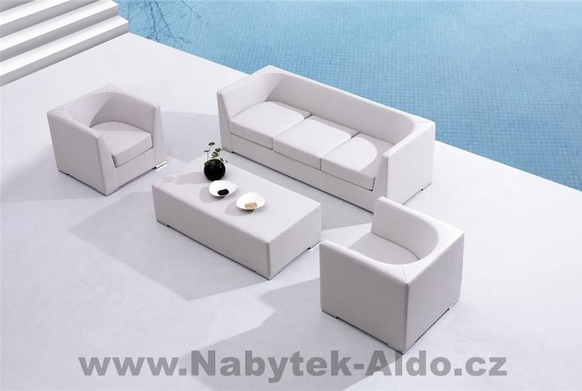 Záhradný nábytok Redford v zostave, jachtový koža-hliník, drevo, farba svetlo šedá, cena: od 192,39 EUR