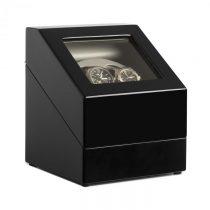 Klarstein Old Marshall, naťahovač na hodinky, pohyblivá vitrína, 2 hodiniek, čierny