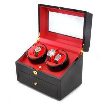 Klarstein Old Marshall, naťahovač na hodinky, pohyblivá vitrína, 10 hodiniek, čierny