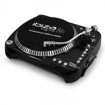 USB SD gramofón Ibiza Free Vinyl s funkciou komprimovania