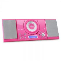 Auna MC-120, stereo systém, MP3 CD prehrávač, USB, ružový