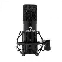 Kondenzátorový mikrofón Auna MIC-900B, USB, čierny