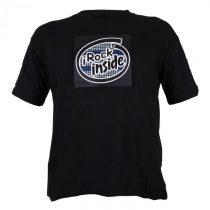 Summary Dvojfarebné LED tričko, design iRock Inside, veľkosť XL