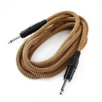 FrontStage 6,35mm-Jack kábel, 3m, mono, Textil zlato-čierny
